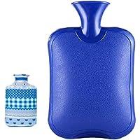 Safe Hot Therapies Warme Hände PVC-Wärmflasche mit abnehmbarem Bezug 2.0 Liter (Blau) preisvergleich bei billige-tabletten.eu