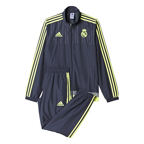 Adidas Real Madrid CF PR Suit CH 2015/2016 - Chándal, Color Gris/Lima, Talla S