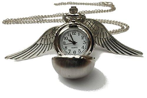 Chamber37 Alas de Angel Collar de Reloj de Bolsillo de Cuarzo