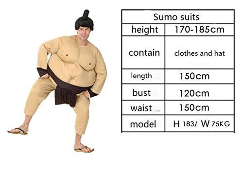 WEII Halloween Kostüm Horror Zombie Kostüm Cosplay Kostüm,Sumo-Anzug,Einheitsgröße