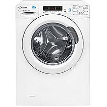 Candy CSW 485D-S Independiente Carga frontal A Blanco lavadora - Lavadora-secadora (Carga frontal, Independiente, Blanco, Izquierda, Botones, Giratorio, Acero inoxidable)