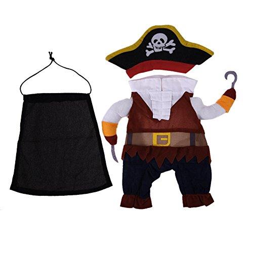 Demiawaking Vestiti Del Cane del Design di Pirata Abbigliamento Divertente Costume da Halloween di Cotone Morbido
