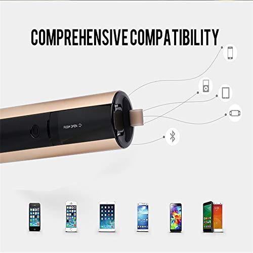 Xianxian88 Altoparlante per lei, Altoparlanti Wireless Bluetooth, 3-in-1 Outdoor Sport Selfie Stick Altoparlante Bluetooth Mobile Alimentatore Vivavoce per chiamate a Mani libere e Card