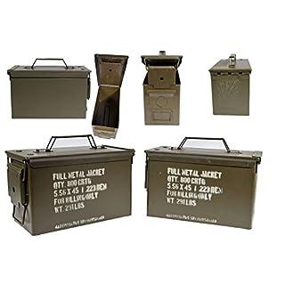 Armeeware 2 Stück Munitionskiste Cal. 5,56 x 45 Oliv neuwertig 30 x 14 x 19 Werkzeugkiste Munikiste