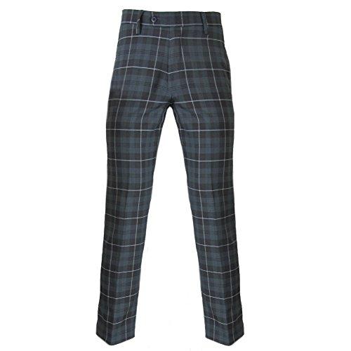 Hosen Kostüm Golf - Murray - Herren Golfhose - traditionelles schottisches Tartanmuster - Granitgrau - 30W / 29L