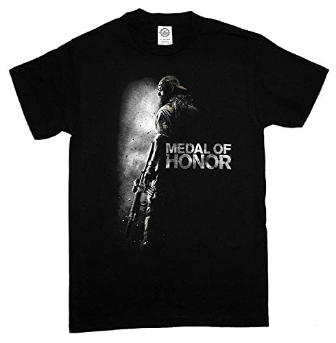 cb49acd191f0 Medal of Honor Cover Logo Video Game T-Shirt tee Short Sleeve Cotton tee  Shirts