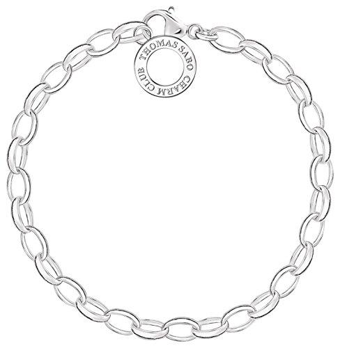 Thomas Sabo X0031-001-12-S  Damen-Charm-Armband Charm Club 925 Sterling Silber Länge 14,5 cm