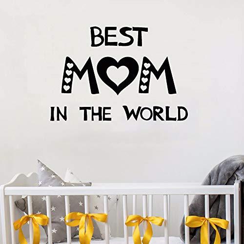 Wandtattoo Schlafzimmer Wandtattoo Zitate Beat Mom In The World Vinyl Wandaufkleber Für Kinderzimmer Muttertag Eltern Wohnkultur für schlafzimmer (Für Muttertag-projekte Kinder)