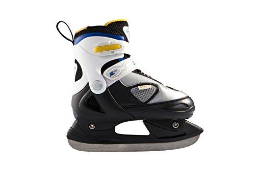 L.A.Sports Kinder Schlittschuhe Junior IceStar, Schwarz/Weiß/Blau/Gelb, 30-33, 13505