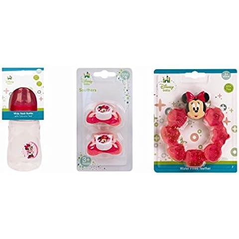 Disney-Set per dentizione e bottiglia, motivo Boys Girls & motivi disponibili - Bottiglia Dummy