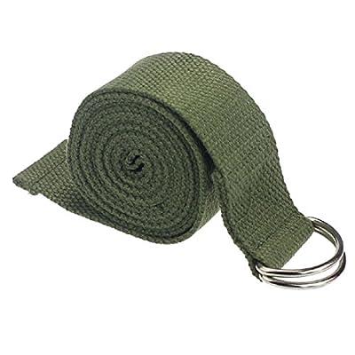 Yoga–Halterung SODIAL (R) Mode Zubehör Einstellbare Yoga Taille Bein Fitness 180cm-Gurt Training Dehnung d-ring Baumwolle-Blau Halterung