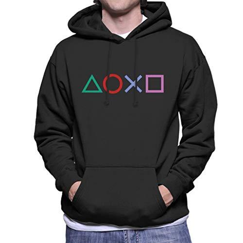 Cloud City 7 Playstation Shapes Men's Hooded Sweatshirt