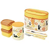 Skater Studio Ghibli Kikis kleiner Lieferservice Stainless Thermal Bento Boxen Lunch Box Set (3 Food Containers, Fork & Bag) Blume aus Japan KCLJC6