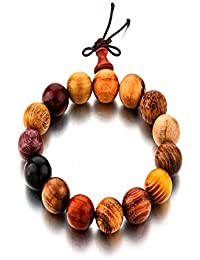 Under 499 Tibetan Wooden Beads Buddha Bracelet for Meditation & Healing Properties. (Woody) by Hot And Bold