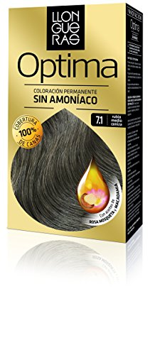 Llongueras Tintura per Capelli, Optima Hair Colour, 200 gr, 7.1-Medium Blond Cendre