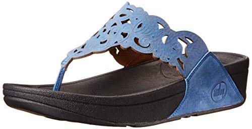 FitFlop - Flora - Womens - Devon Blue Nubuck Devon Bleu Nubuck