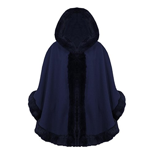 Fashionchic - Poncho - Femme Bleu Marine