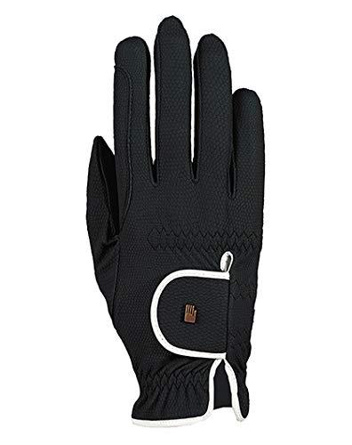 Roeckl Sports Damen Handschuh Lona, Damenreithandschuh, Schwarz/Weiß, 6