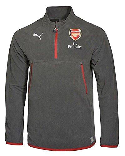 2017-2018 Arsenal Puma Coach Training Fleece (Grey) (Shirt Training Arsenal)