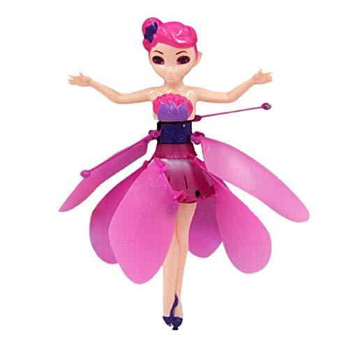 XuBa - Muñeca de Hada voladora para niñas con Control de inducción por Infrarrojos, Color Rosa