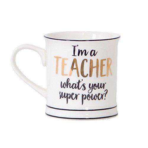 Sass & Belle Metallic Monochrome I'm A Teacher Mug [Importación inglesa]