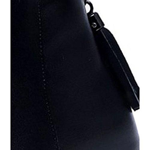 HSXZ Scarpe donna pu inverno Comfort stivali Null tacco piatto Round Toe Null / per Nero Casual Black
