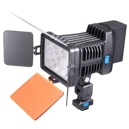 Kaavie - Qualità superiore Profeesional - Illuminatore Luce LED 8 LED video light + F750 Batteria - Faretto LED per fotocamere reflex digitali e videocamere Canon - Nikon - Olympus - Sony - Panasonic - Pentax