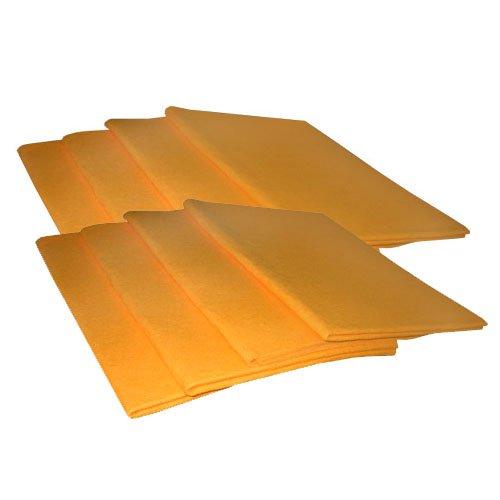 Fenstertuch, Poliertuch, Haushaltstuch, orange, ca. 48,3 x 68,6 cm - 8 Stück