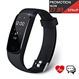 Fitness Tracker, Aneken Activity Tracker Bluetooth 4.0 Braccialetto Fitness...