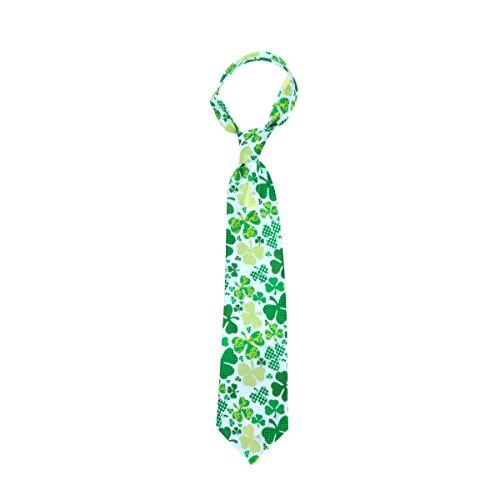 ay Zubehör Irish Shamrock Männer St.Patrick Tag Grün Krawatte Urlaub Cosplay Kostüm Krawatte (St Patrick Tag Outfit)