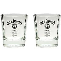 Set di 2bicchieri per Whisky Jack Daniels–bicchieri originali da 2cl/4cl, calibrati