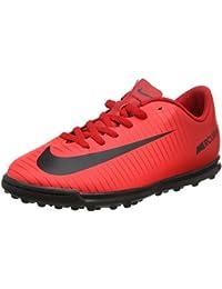 Nike Jr Mercurial Vortex TF - Zapatillas de fútbol para unisex, color blanco/negro/verde, talla 34