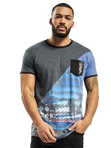 Just Rhyse Herren T-Shirts Palm Coast blau L