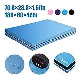 CCLIFE 180x60x4cm Weichbodenmatte Turnmatte Klappbar Gymnastikmatte Farbenauswahl, Farbe:Himmelblau 180x60x4cm