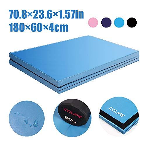 CCLIFE 180x60x5/x4cm Klappbare Weichbodenmatte Turnmatte für Zuhause Fitnessmatte Gymnastikmatte rutschfeste Sportmatte Spielmatte