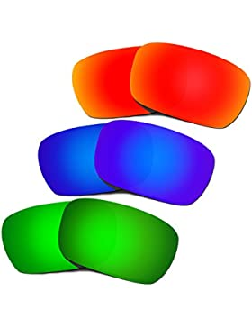 Hkuco Plus Replacement Lenses For Oakley Jury Red/Blue/Green Sunglasses