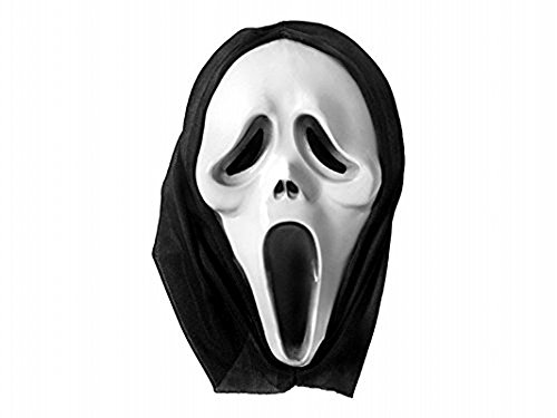Travestimento maschera halloween scream con cappuccio