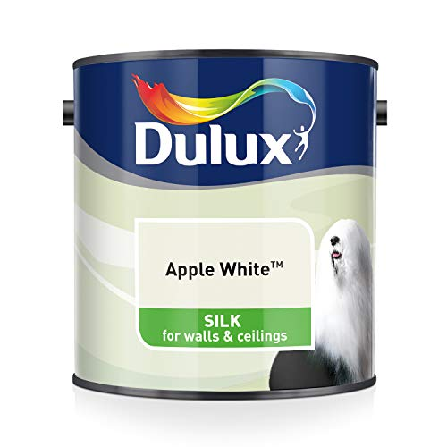 Dulux Silk 2,5 L - Pinturas de pared para interior (Pintura, Preparado, Techo, Pared, Cal, Sedoso, 2,5 L)