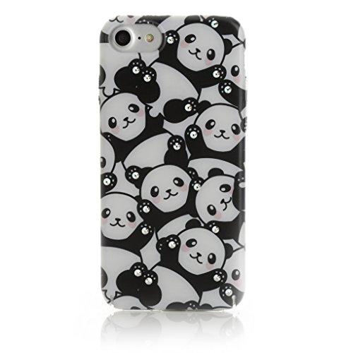 Arktis iPhone 8 / 7 Luxus Soft Tpu Silikon Case Schutzhülle Hülle Strass Strassteine Unicorn Dream Einhorn Einhörner Panda's