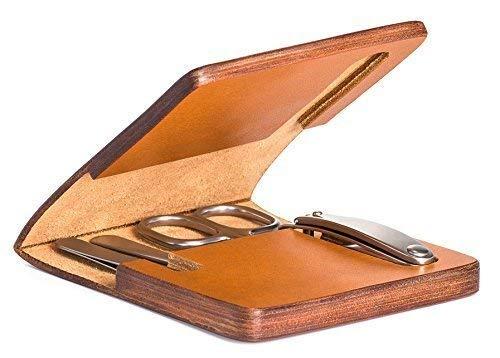 MÜHLE - 4-tlg. Maniküre-Set in hochwertigem Rindsleder-Etui
