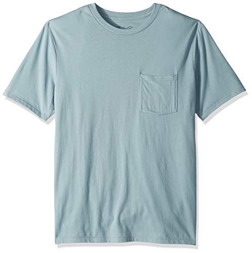 Brixton Herren Basic S/S Pocket Tee T-Shirt, Blue Stone, XX-Large -