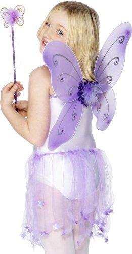hen Feen Set, Flügel und Zauberstab, One Size, Lila, 29170 (Feenflügel Kind)