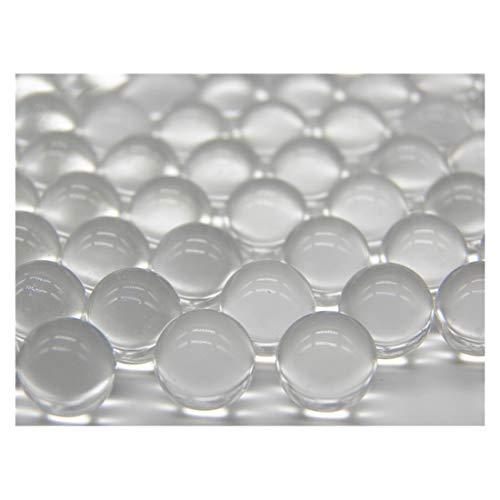 ECYC® 200pcs Transparent Glaskugeln Perlen für Aquarium Blumentopf und Gartenarbeit Lose Perlen Vase Füller, 11mm
