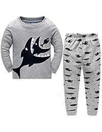 Little Hand Toddle Boys Pjs Dinosaur Pyjamas Set Boys Winter Nightwear Kids Pyjama Long Sleeve Sleepwear Clothes 2 Pieces 100% Cotton Age 1-6 Years