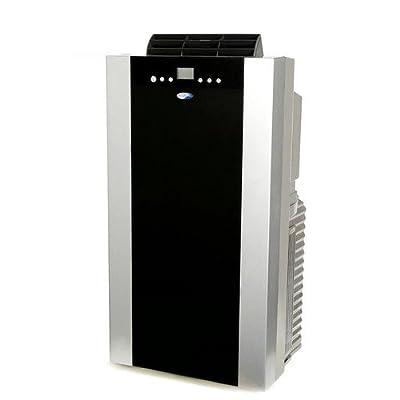 Whynter 14,000 BTU Dual Hose Portable Air Conditioner with Heater, Platinum/Black
