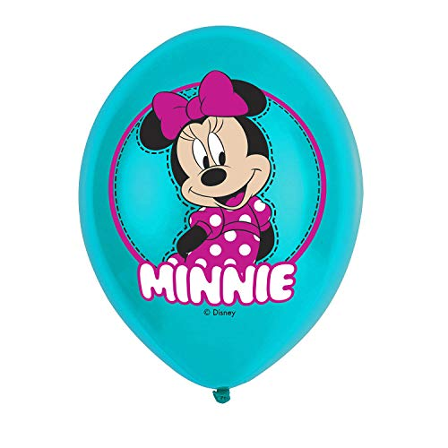 amscan 9903669 6 Latexballons Minnie Maus, Mintfarben