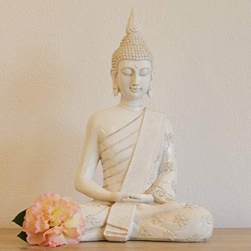 Thai Buddha Weiß Statue groß 40 cm - 2