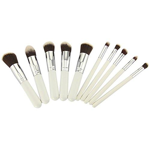 Pixnor Ensemble de brosses maquillage ensembles 10pcs Premium qualité Portable cosmétiques maquillage