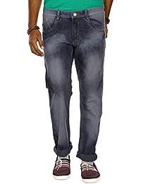Jugend Light Blue Light Faded Stretchable Regular Fit Jeans For Men