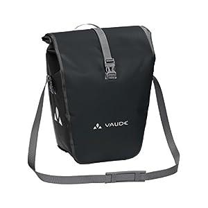 VAUDE Aqua Back ? Juego de 2 bolsas para bici adaptables a la carga e impermeables, Negro, Talla única